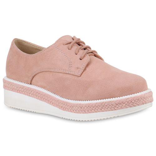 Besondere Damen Schuhe rosa Plateau Pumps Blockabsatz 3350130