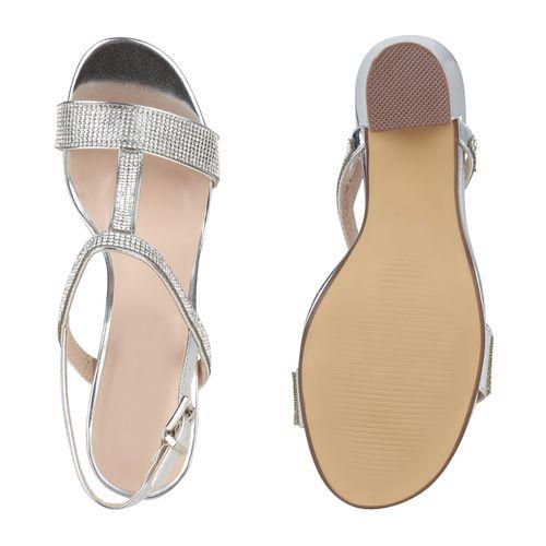 Sandaletten Silber Damen Riemchensandaletten Riemchensandaletten Damen Sandaletten Silber qC0Yrw0x