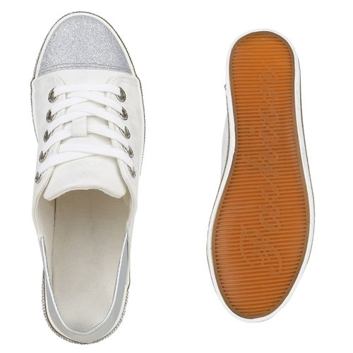 Weiß Sneaker Weiß Sneaker Low Low Damen Damen Damen SgqxtwHS6