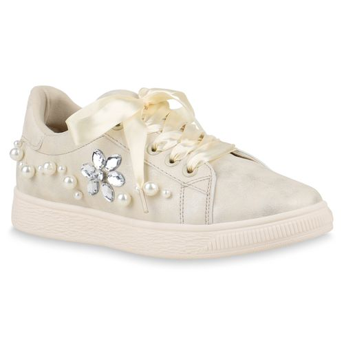Damen Sneaker low Creme