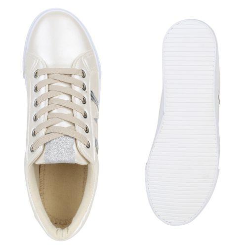 Damen Sneaker Sneaker Low Sneaker Damen Damen Creme Creme Low 1q7wUxd6vq