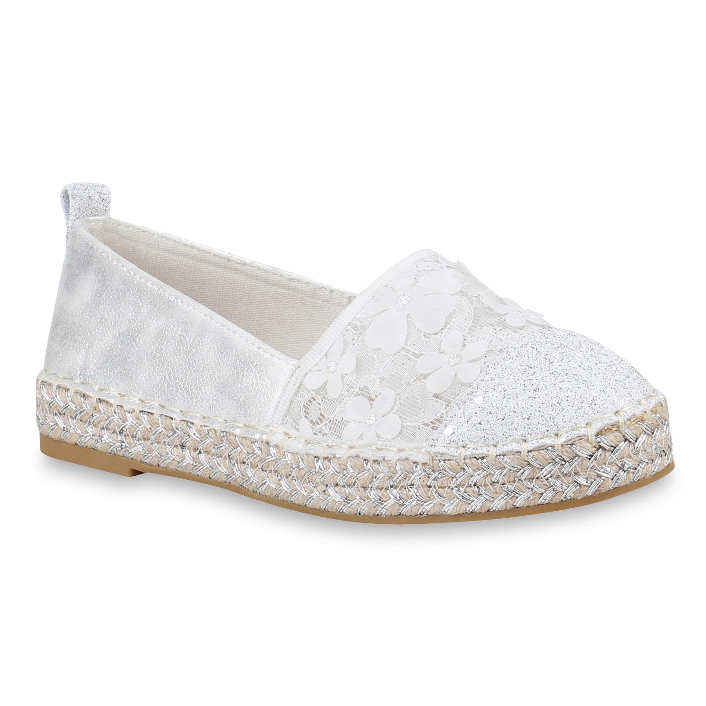Slipper - Damen Slippers Espadrilles Weiß › stiefelparadies.de  - Onlineshop Stiefelparadies