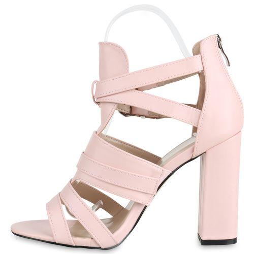 Sandaletten Damen Sandaletten Damen Rosa Riemchensandaletten pnUqESU7x