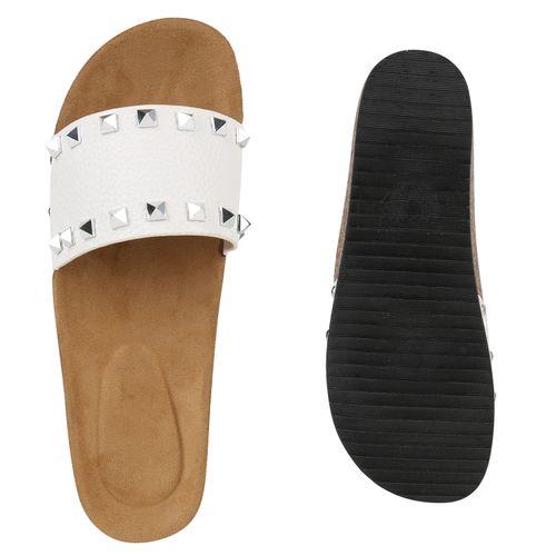Pantoletten Sandaletten Damen Damen Damen Weiß Sandaletten Weiß Pantoletten Sandaletten Weiß Pantoletten qpBgpIwr