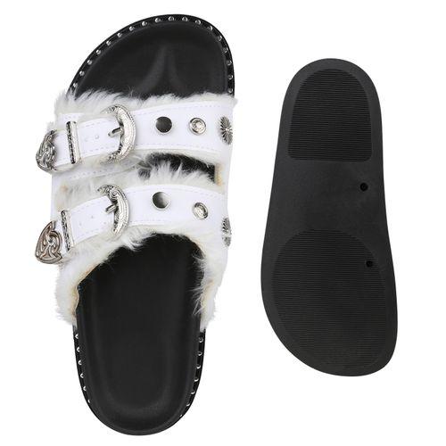 Weiß Sandalen Pantoletten Weiß Damen Sandalen Damen Sandalen Weiß Pantoletten Pantoletten Damen Damen qgpnHwPU