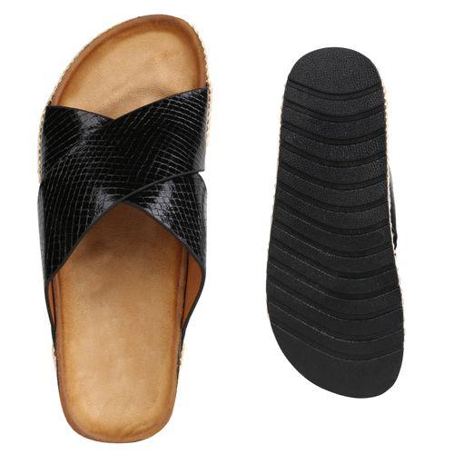 Schwarz Damen Sandaletten Damen Pantoletten Damen Schwarz Pantoletten Sandaletten vq100