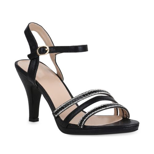 Damen Damen Riemchensandaletten Schwarz Sandaletten Sandaletten Riemchensandaletten rEOnq6r