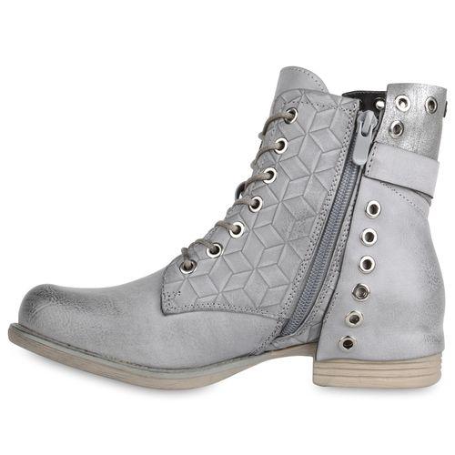 Damen Schnürstiefeletten Damen Grau Stiefeletten Stiefeletten Schnürstiefeletten wq4Ex41U
