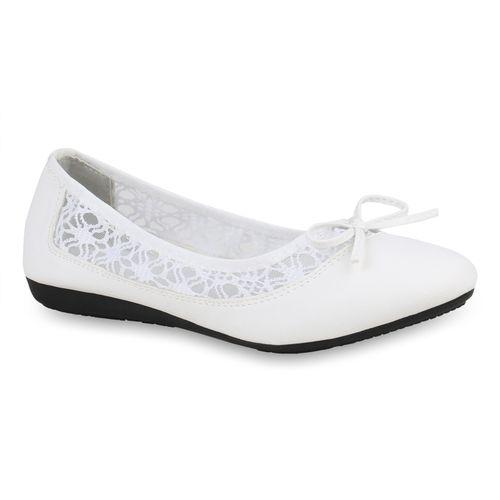 Ballerinas Damen Damen Ballerinas Klassische Ballerinas Weiß Weiß Klassische Damen Klassische HqtqTZ