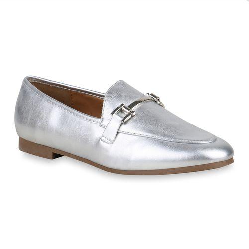 Damen Klassische Slippers - Silber
