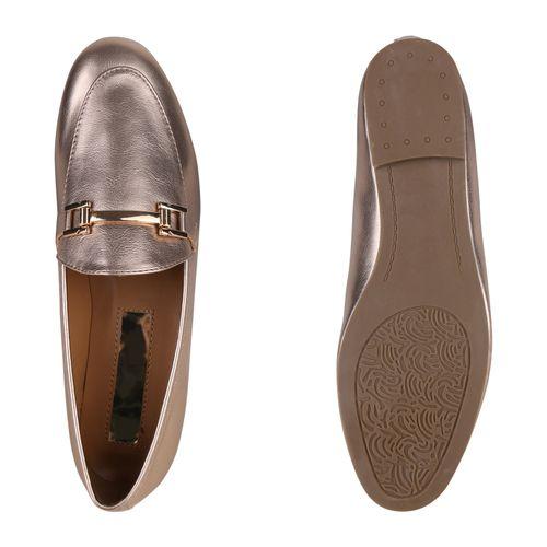 Damen Klassische Slippers Rose Gold