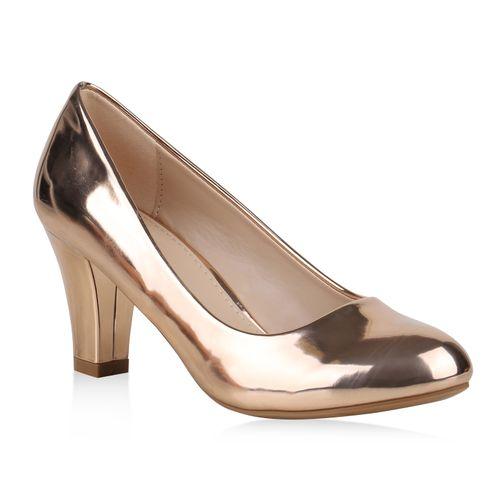 Damen Klassische Pumps - Rose Gold
