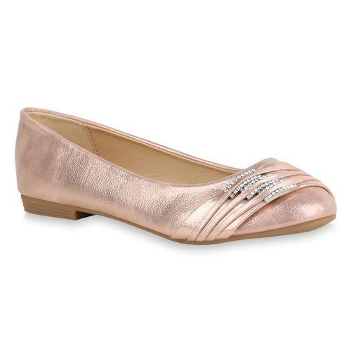 Damen Klassische Ballerinas - Rose Gold
