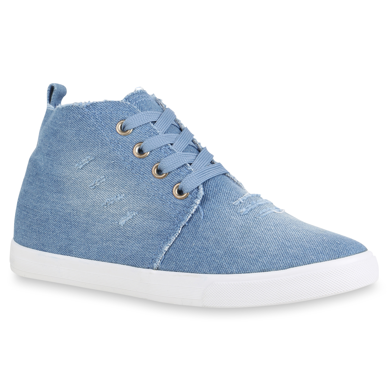 Damen Sneaker high - Hellblau