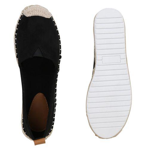 Espadrilles Slippers Damen Damen Schwarz Slippers nxq7BYTUY0
