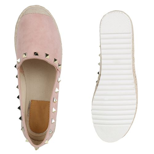 Damen Rosa Slippers Espadrilles Slippers Damen pXBRqU1X