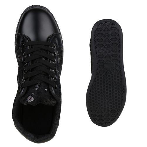 Sneaker Damen Low Schwarz Damen Sneaker 76wEUU
