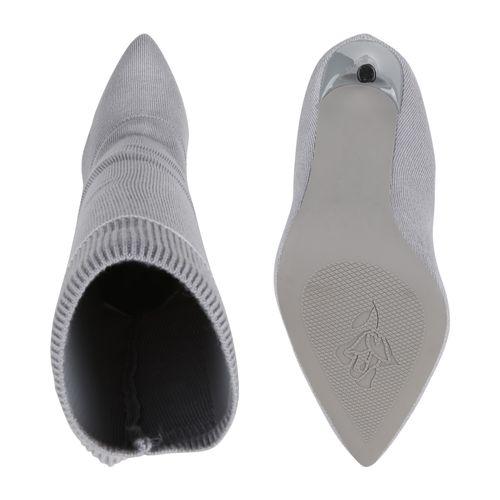 Damen Stiefel High Heels - Grau