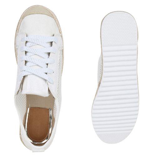 Damen Plateau Weiß Sneaker Damen Plateau 5UFqx58