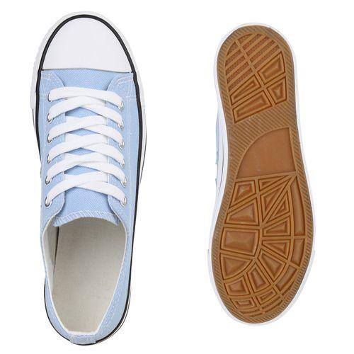 Damen Low Sneaker Hellblau Sneaker Damen 54gxF