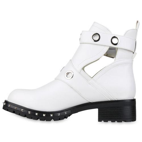 Billig Damen Schuhe Damen Stiefeletten in Weiß 821216686