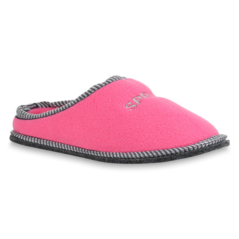 Damen Hausschuhe Pantoffeln - Pink
