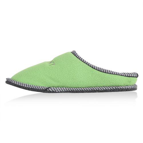 Damen Hausschuhe Pantoffeln - Hellgrün