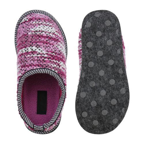 Damen Hausschuhe Pantoffeln - Helllila