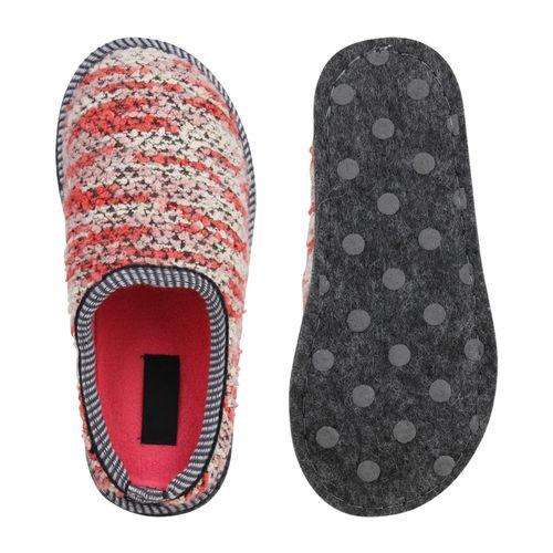 Damen Hausschuhe Pantoffeln - Hellrot