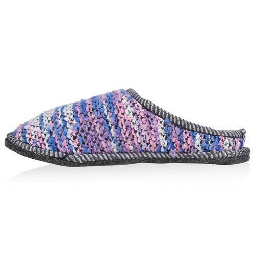 Damen Hausschuhe Pantoffeln - Lila