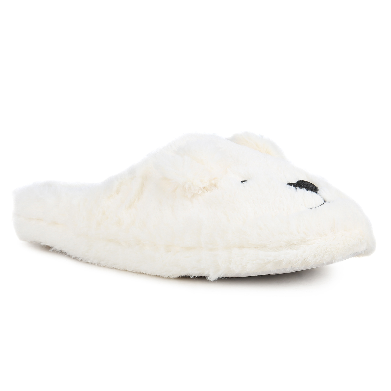Damen Hausschuhe Pantoffeln - Weiß