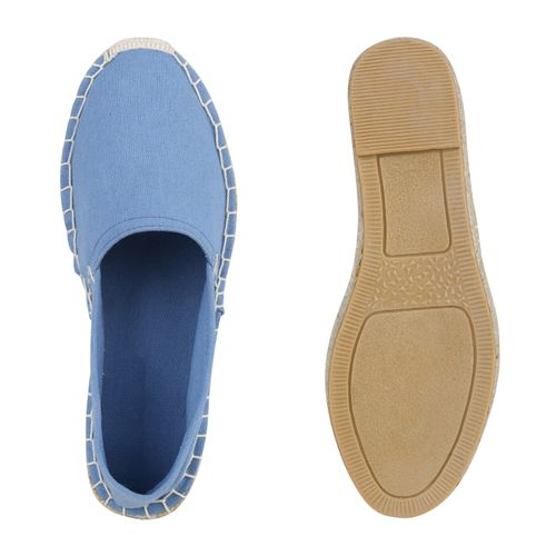 Damen Blau Damen Slippers Blau Espadrilles Espadrilles Slippers Damen Slippers Espadrilles vqPgBwwC