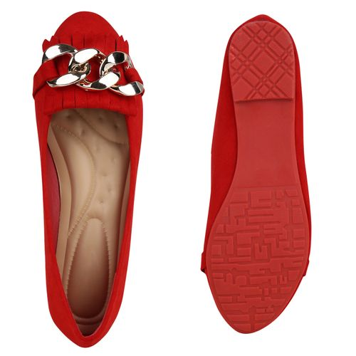 Klassische Klassische Ballerinas Rot Ballerinas Rot Damen Damen Damen Ballerinas Rot Klassische nwYOq18xOg