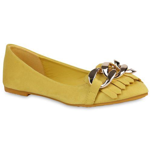Damen Gelb Klassische Damen Ballerinas Klassische Klassische Damen Ballerinas Gelb pXaxqSwva
