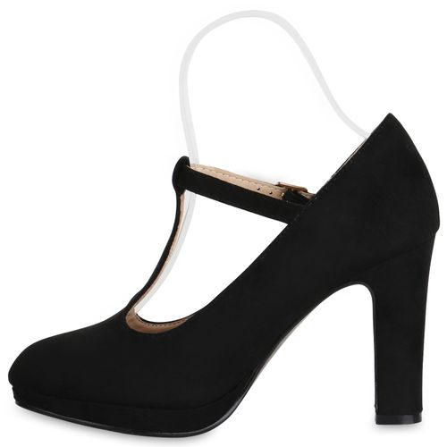 Damen Pumps Mary Janes - Schwarz