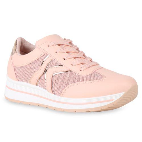 Damen Pink Sneaker Pink Plateau Plateau Damen Sneaker qr0Pgaqw