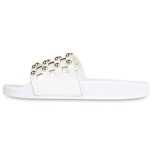 Damen Weiß Sandalen Pantoletten Damen Pantoletten Sandalen Sandalen Weiß Damen Pantoletten Weiß pqvfrp