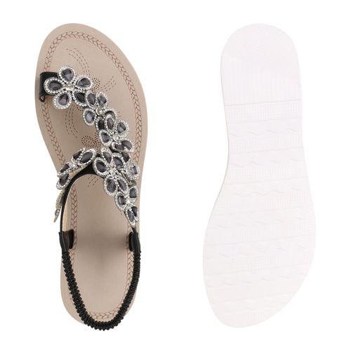 Damen Sandaletten Schwarz Sandaletten Zehentrenner Damen Schwarz Zehentrenner Sandaletten Damen r5wgr6zq