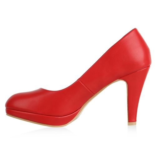 Damen Damen Klassische Klassische Rot Pumps 5wxrxq60Y