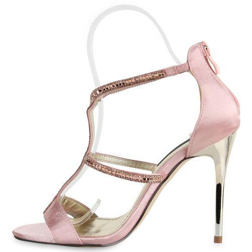 Rosa Heels Sandaletten Sandaletten High Rosa High Heels Damen Sandaletten Damen Damen High pZqd6gwZa