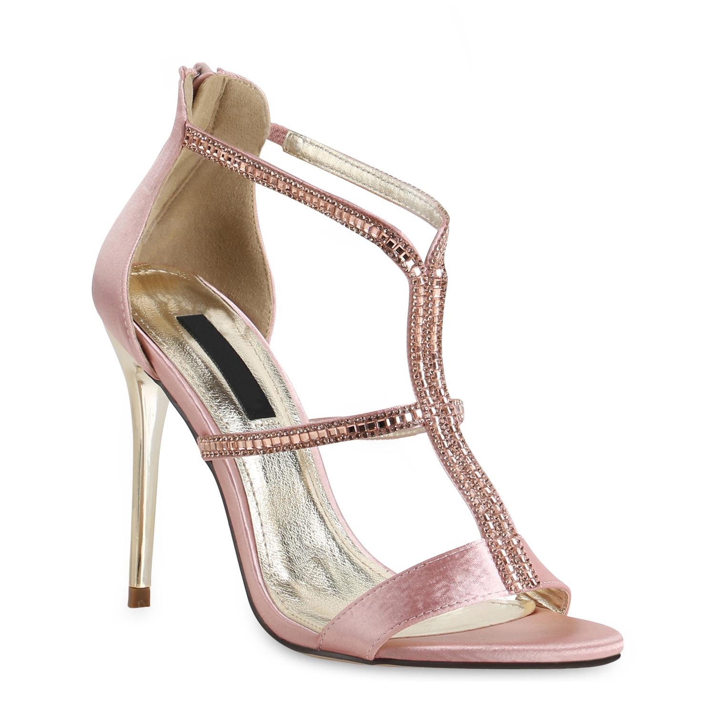 Damen Sandaletten High Heels - Rosa