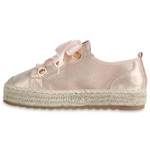 Gold Plateau Damen Rose Damen Plateau Sneaker Sneaker 4FtYwY