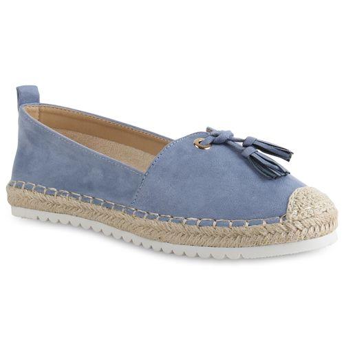 Damen Slippers Espadrilles - Blau