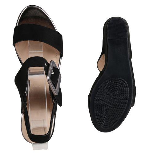 Damen Damen Sandaletten Sandaletten Schwarz Keilsandaletten wXgzqgxp
