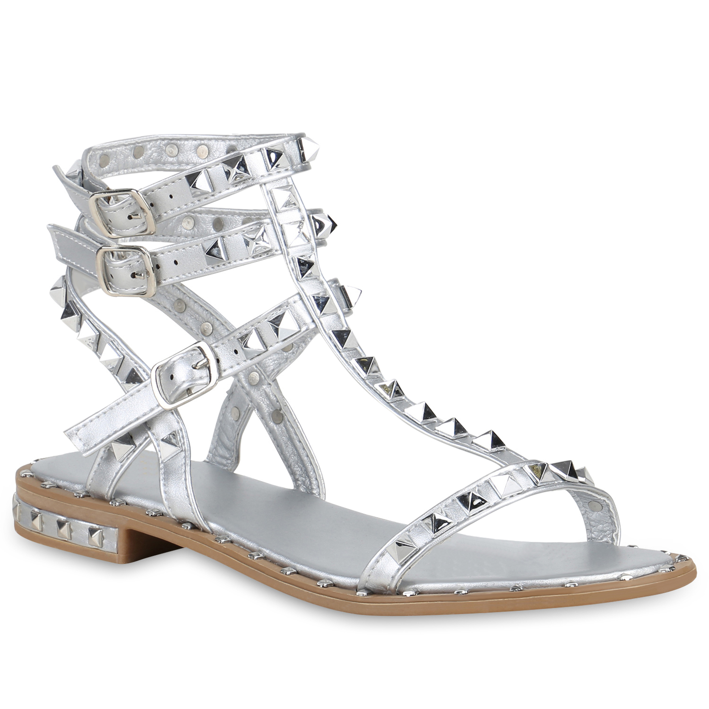 Damen Sandalen Römersandalen - Silber
