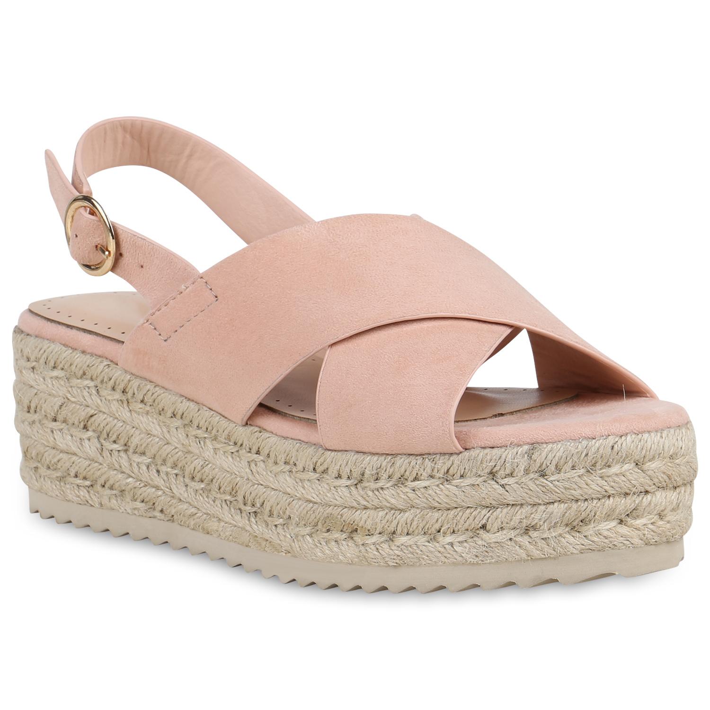 Damen Sandaletten Plateau Sandaletten - Rosa