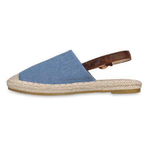 Damen Sandalen Espadrilles - Blau