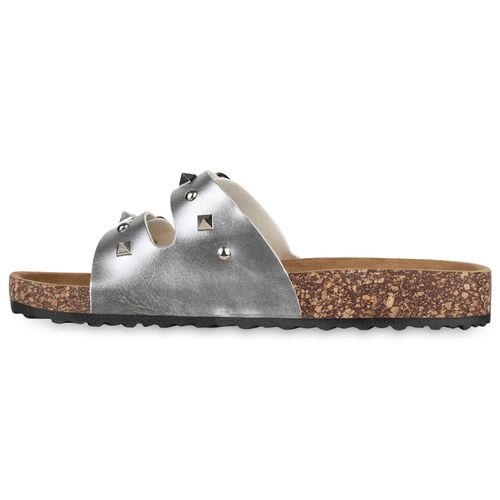 Damen Silber Damen Komfort Sandalen Komfort Sandalen Silber vmwN0ynOP8