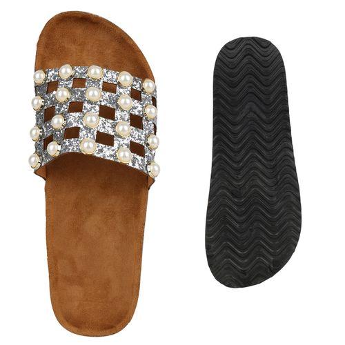 Pantoletten Damen Sandalen Damen Silber Sandalen Rvxxwq0t