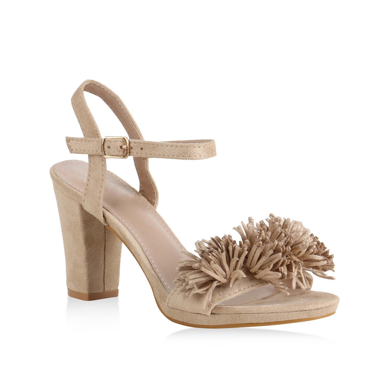 Sandalen - Damen Sandaletten Riemchensandaletten Creme › stiefelparadies.de  - Onlineshop Stiefelparadies